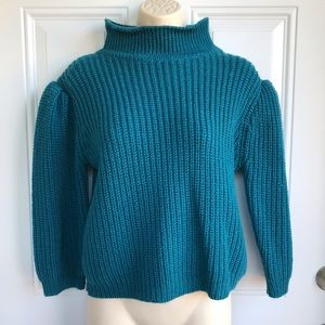 Vintage 80s Gap Puff Sleeve Turtleneck Sweater EUC